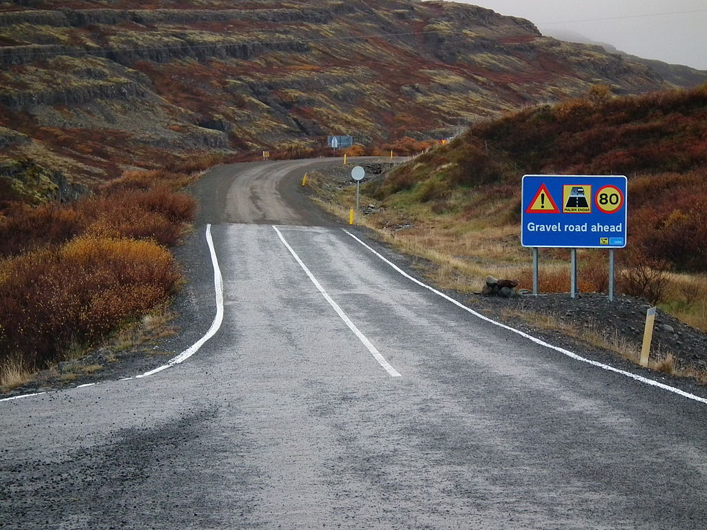 1024px Gravel road ahead Road 60 Iceland